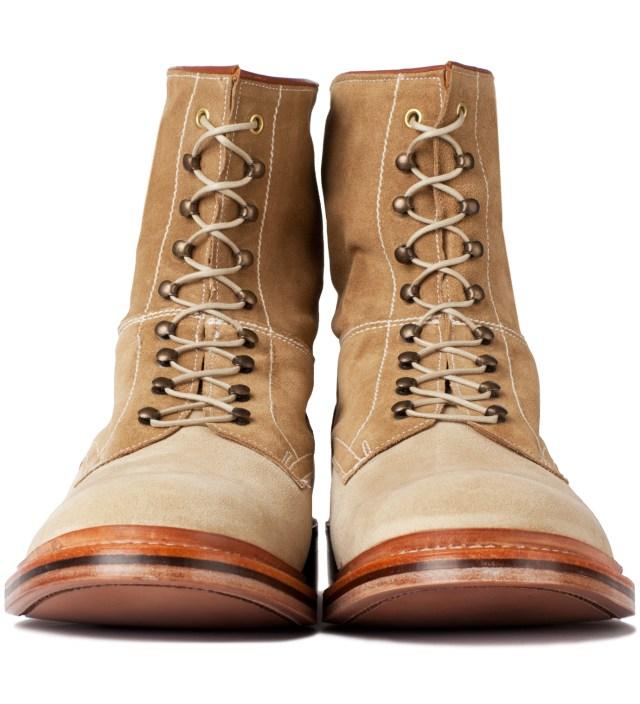 Garbstore x Grenson Tan High Leg Leather Sole Boot