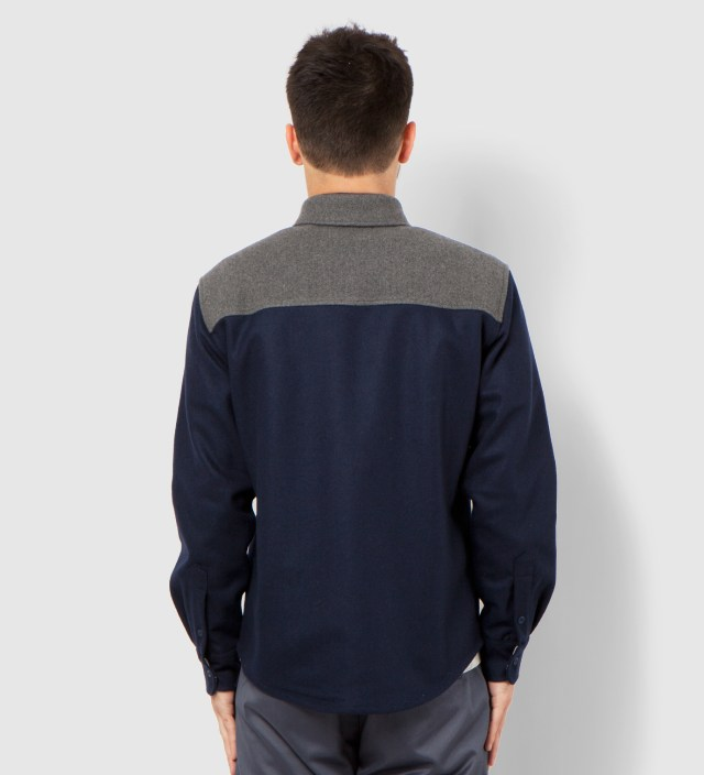 Navy and Grey Contrast Shirt