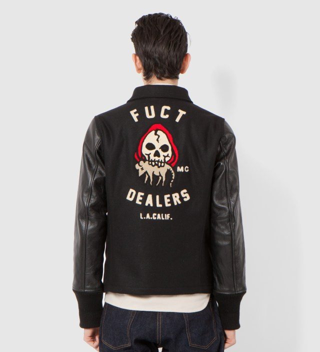 Black FUCT Dealers MC Jacket