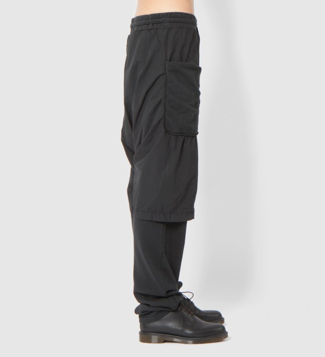 Black Pelly Double Layered Sweatpant
