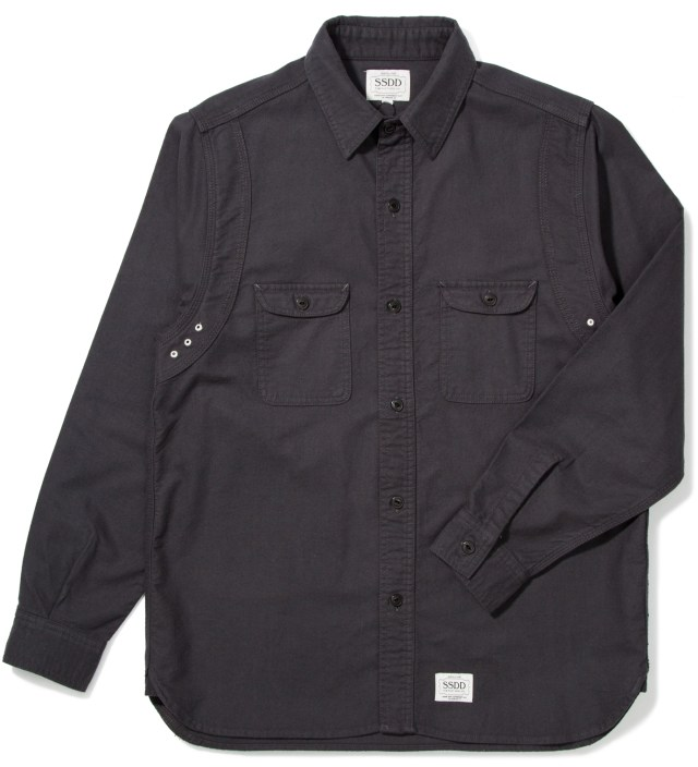 Charcoal Grey SSDD Round York Flannel Shirt