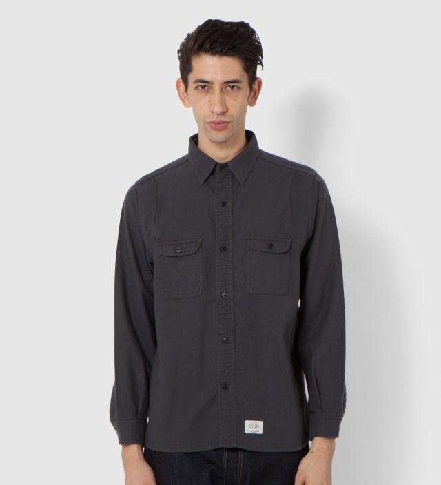 Charcoal Grey SSDD Round York Flannel Shirt