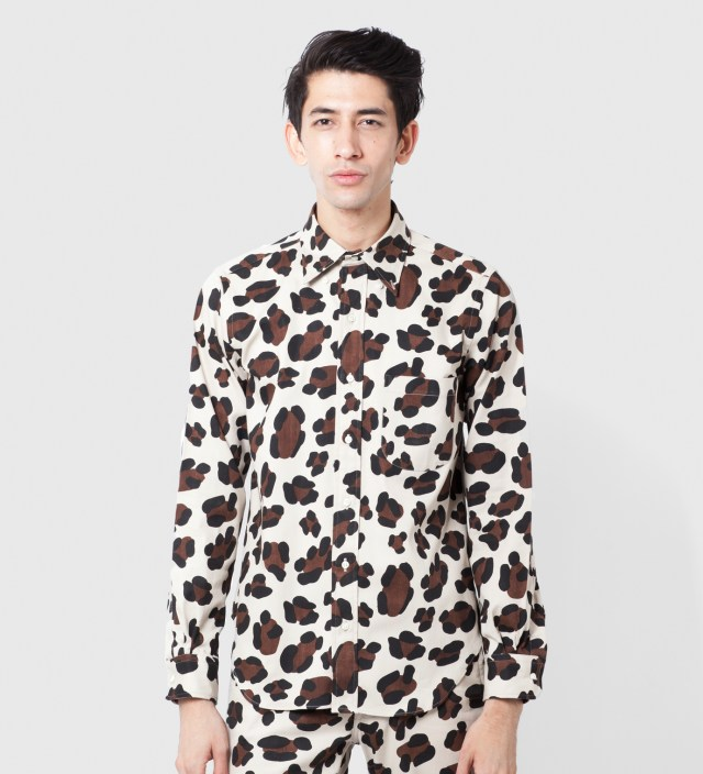 Leopard LS BD Shirt