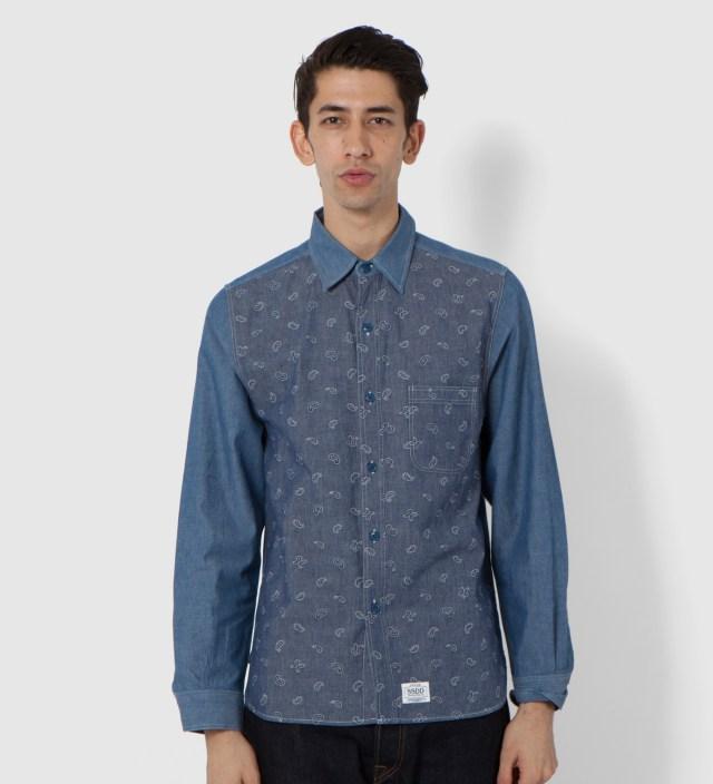 Blue SSDD Paisley Chambray Shirt