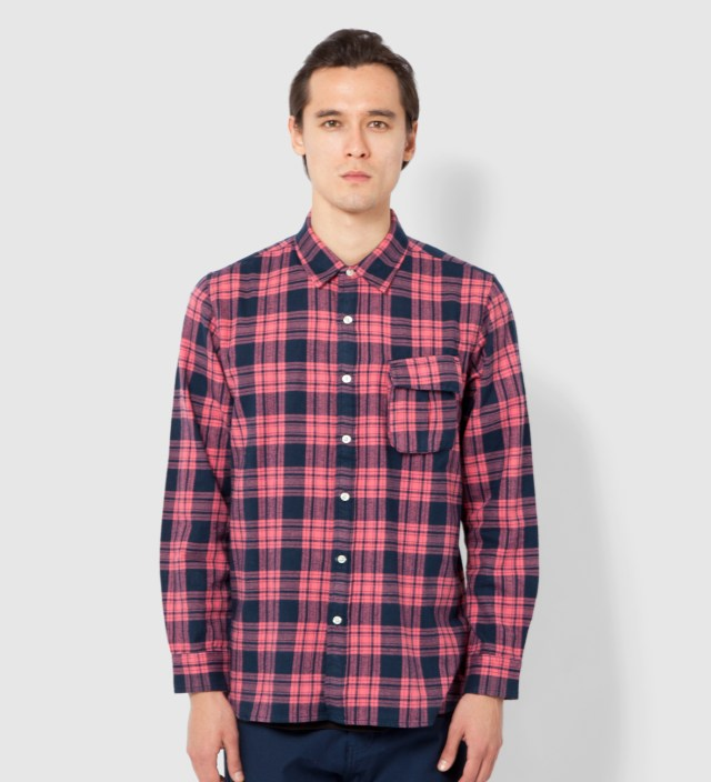 Red Color Flannel Shirt