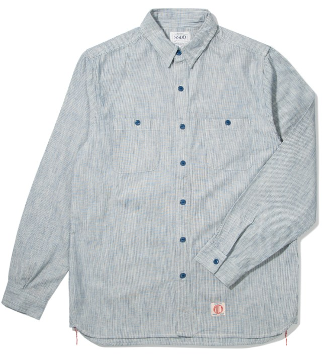 Blue SSDD Stripe Hickory Shirt