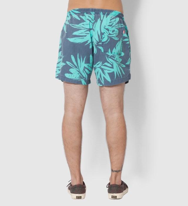 Heron Blue Foliage Shorts