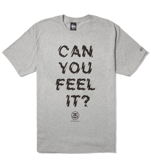 Heather Grey Can You Feel It? T-Shirt