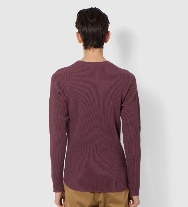 Burgundy Thermal Long Sleeve T-Shirt