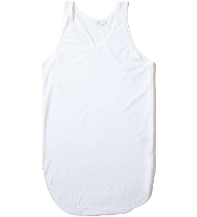 Cash Ca x Sunspel White Long Inner Tank