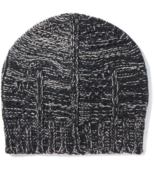 Black/Beige Kali Knit Beanie