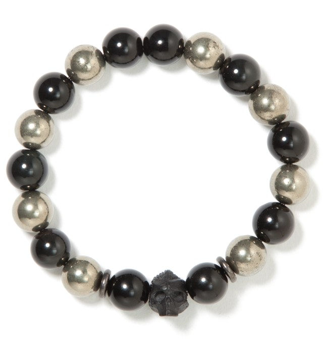 Onyx and Gold DS- Beaded Bracelet