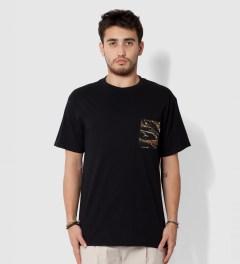 Tantum Black Asian Tiger Stripe Camo T- Shirt Model Picutre