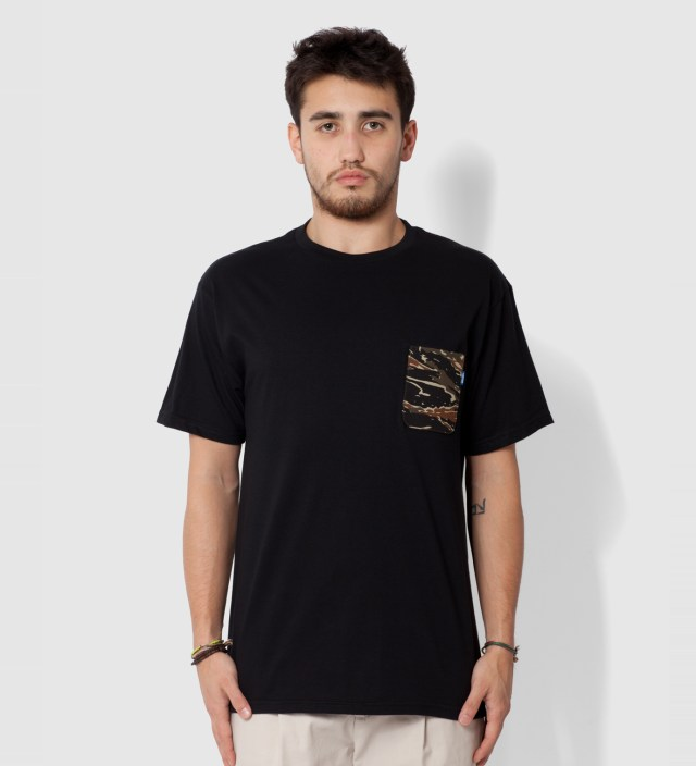 Black Asian Tiger Stripe Camo T- Shirt