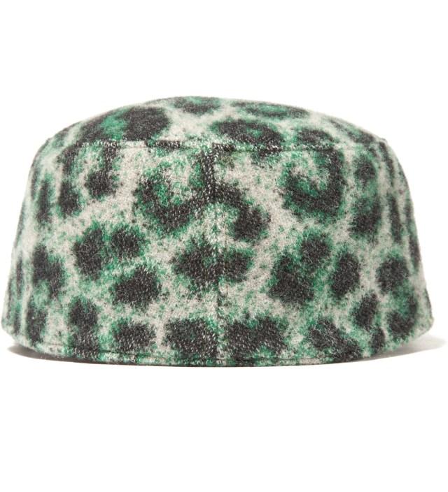 Green Leopard Work Cap