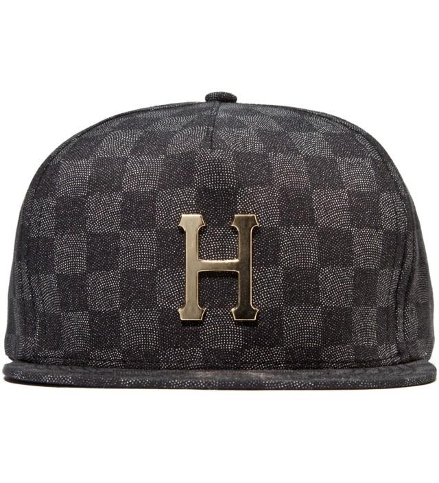 Black Checkered Metal H Cap