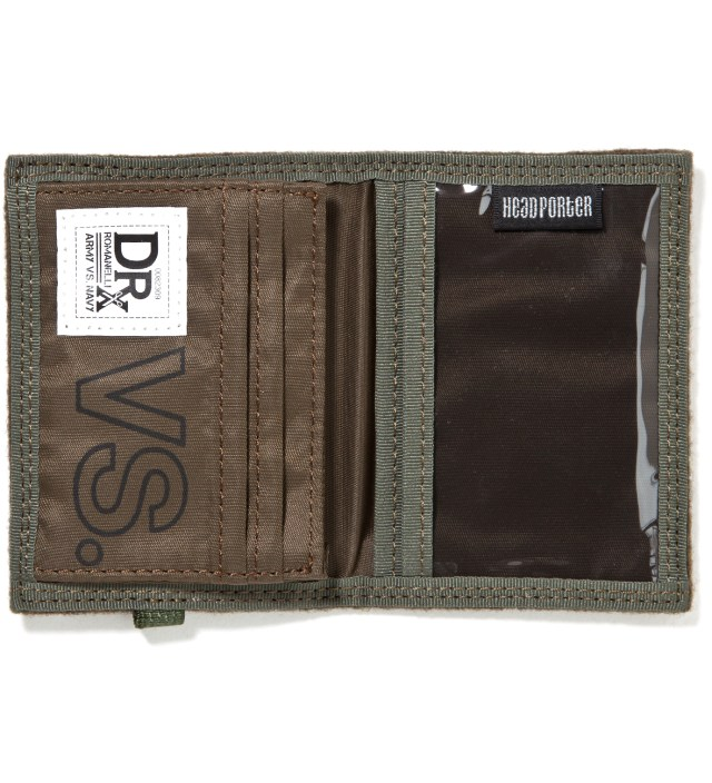 Head Porter x Dr. Romanelli Military Green Wool Wallet