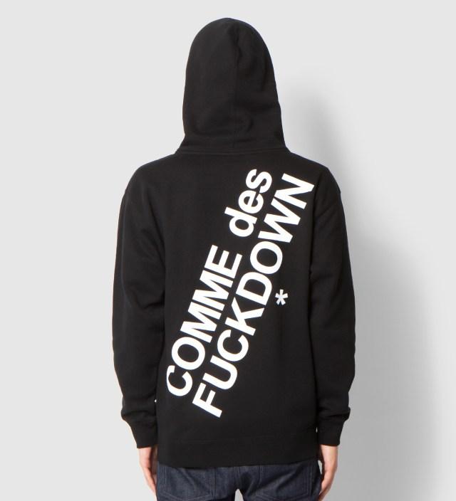 Black Comme des Fuckdown Zip Hoodie