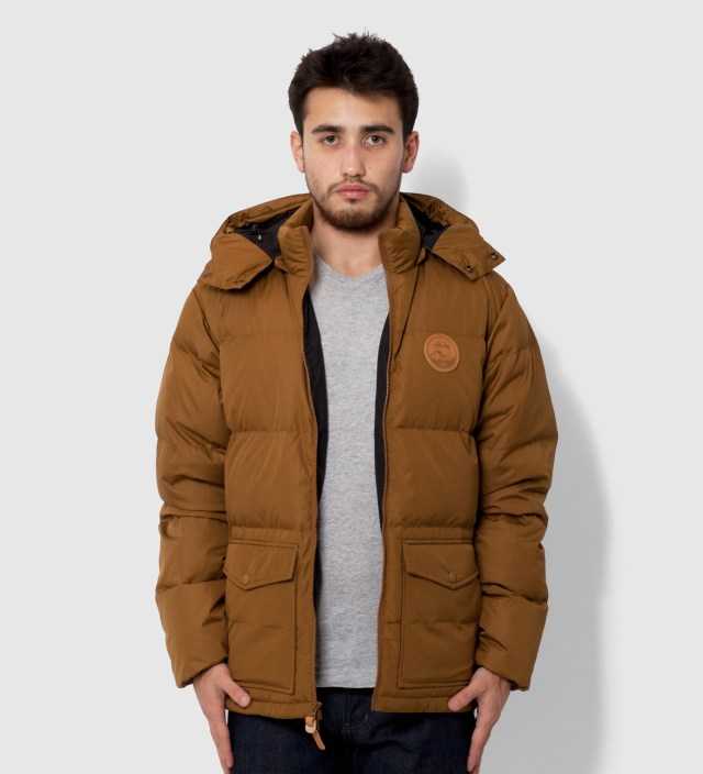 Brown Westridge Down Hooded Jacket