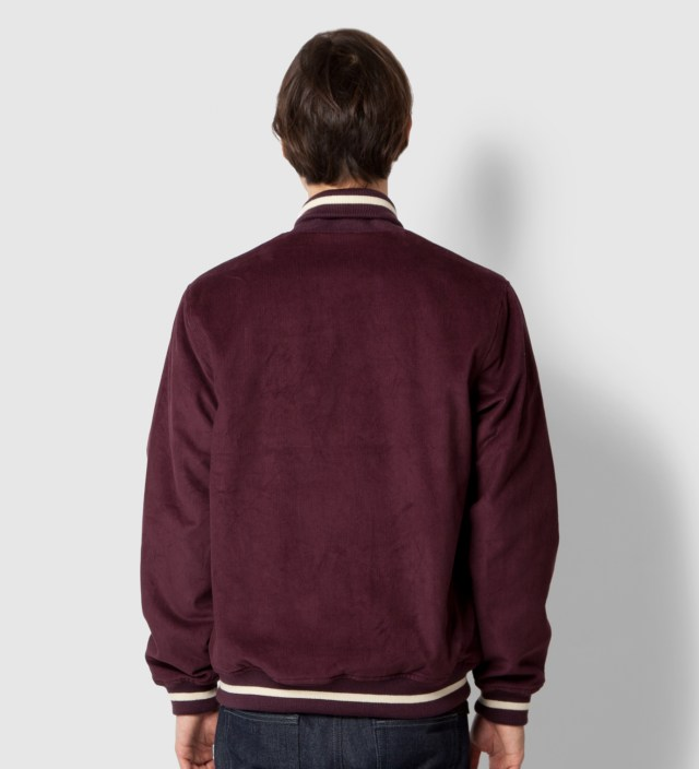 Burgundy Cord Varsity Jacket
