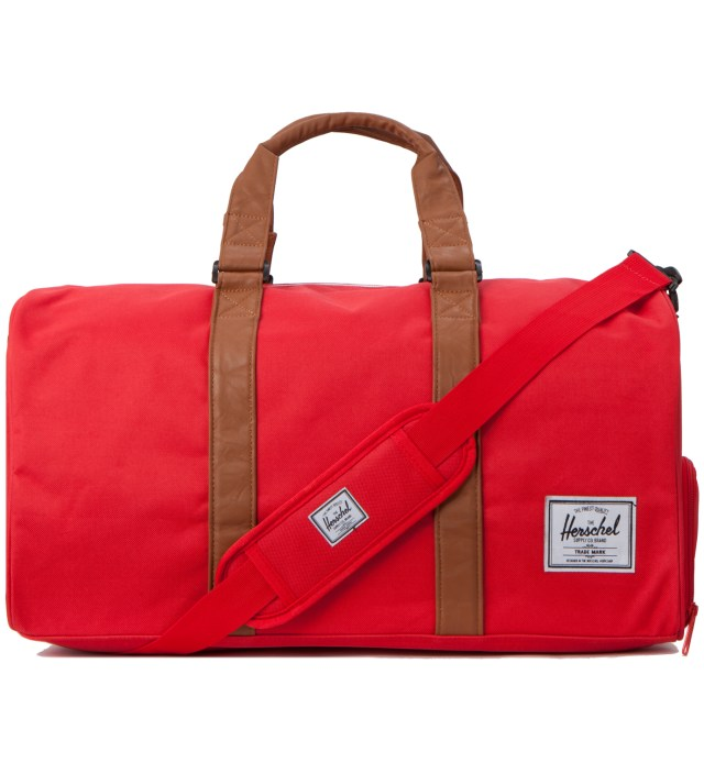 Red/Tan Novel Bag