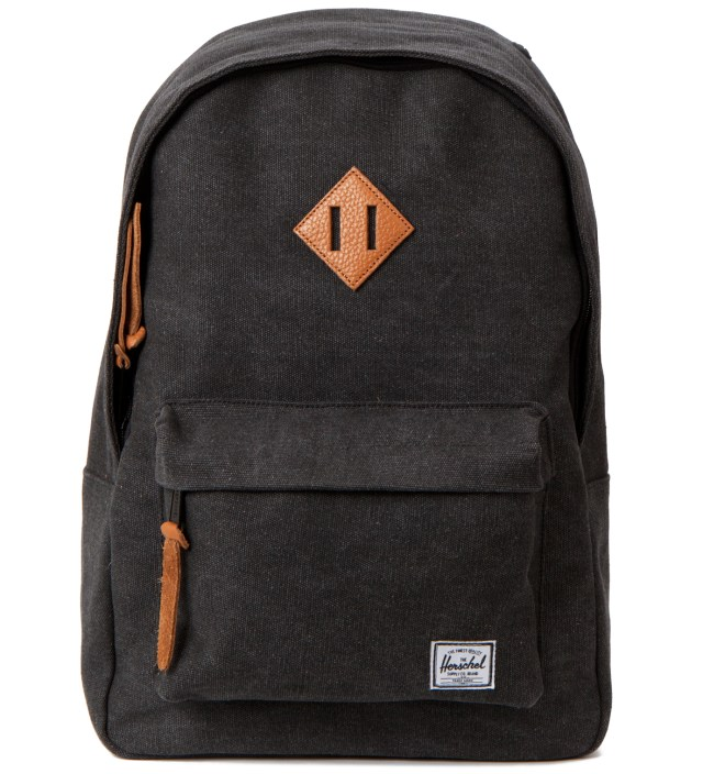 Heavy Canvas Black Woodlands Backpack