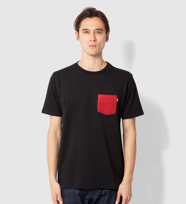 Black Flannel Pocket T-Shirt