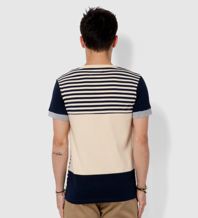 Navy and Beige Cohesion T- Shirt