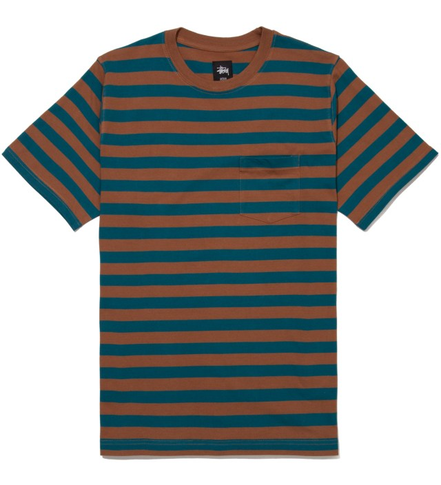 Teal Fireside Stripe T-Shirt