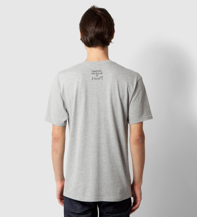 Heather Grey Dolphin Static T-Shirt