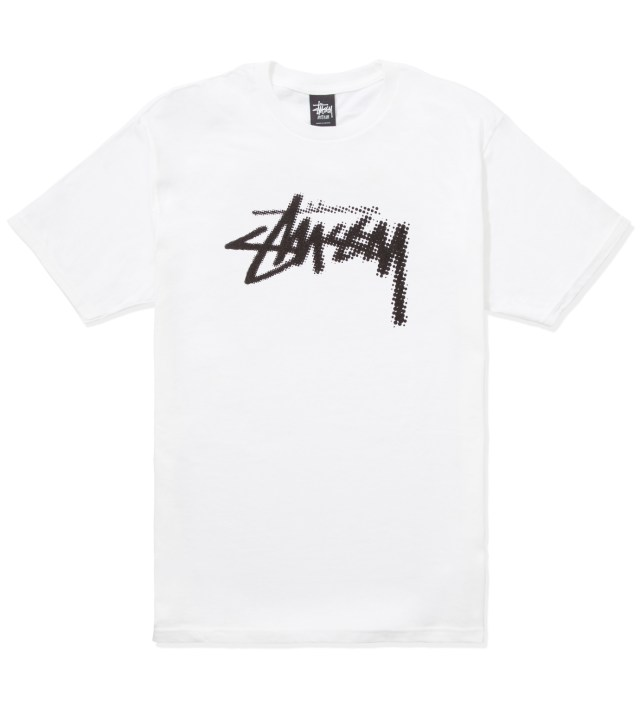 White Halftone Stock T-Shirt