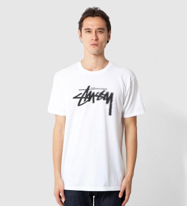 White Halftone Stock T-Shirt