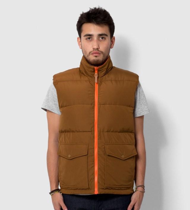 Brown/Orange Westridge Reversible Down Vest