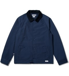 "Deluxe Deluxe for Hypebeast Navy ""Bench Rider"" Coach Jacket Picutre"