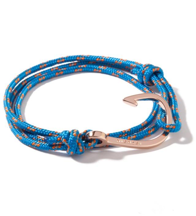 Rose Gold Hook on Caribbean Rope Bracelet