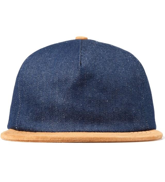 Raw Denim/Suede Denim Polo Hat