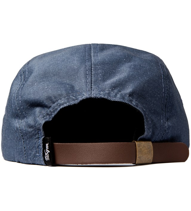 Navy/Red Tulsa Disressed Twill Camp Cap
