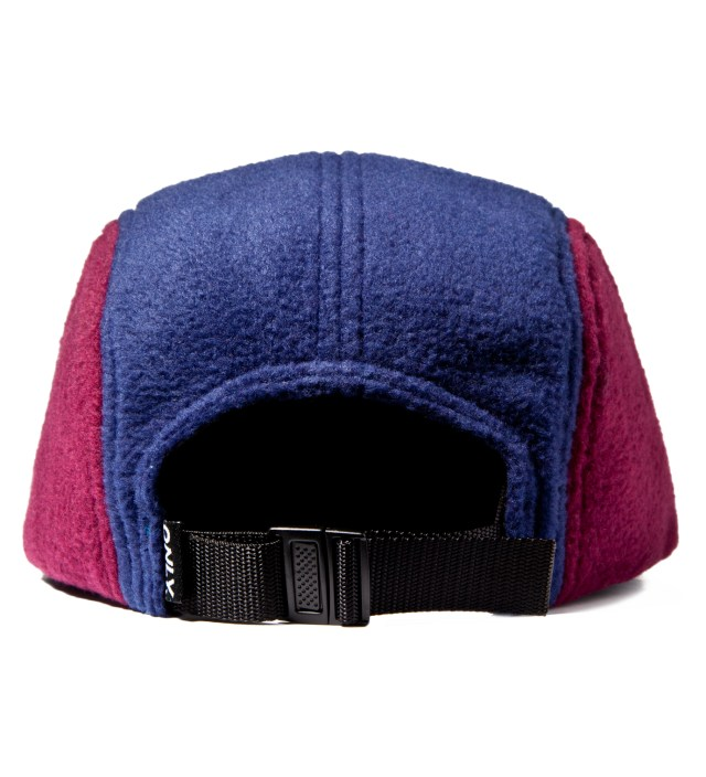 Bordeux/Navy Fleece Logo 5-Panel Cap