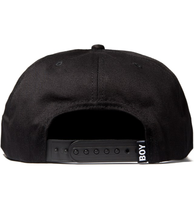 Black/White Boy London Snapback Cap