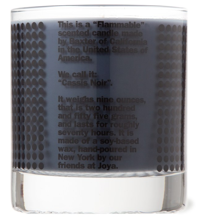 """FLAMMABLE"" Cassis Noir Candle"