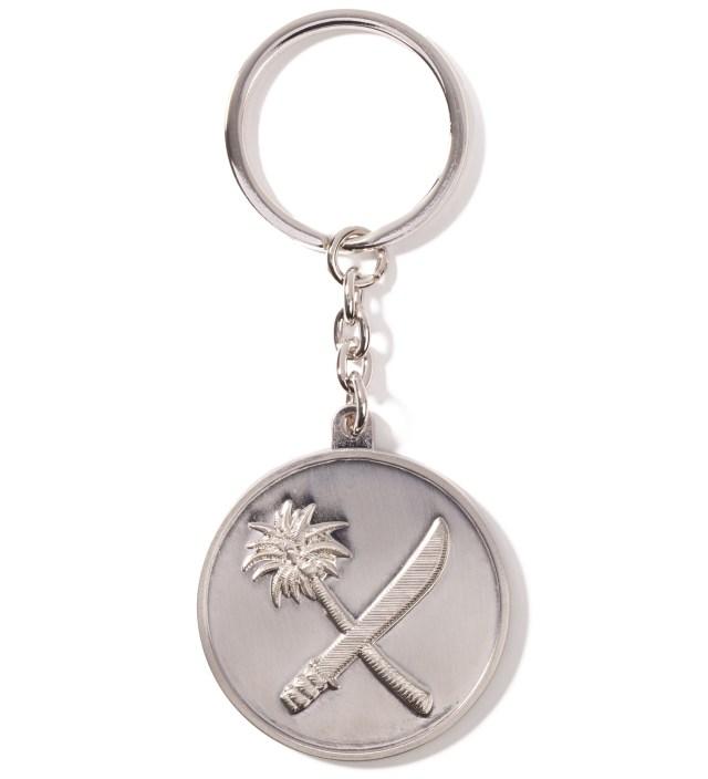 Silver Crosscut Keychain
