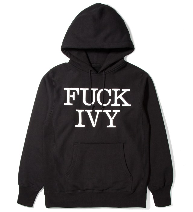 Mark McNairy for Heather Grey Wall Black Fuck Ivy Hoodie