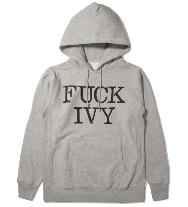 Mark McNairy for Heather Grey Wall Grey Fuck Ivy Hoodie