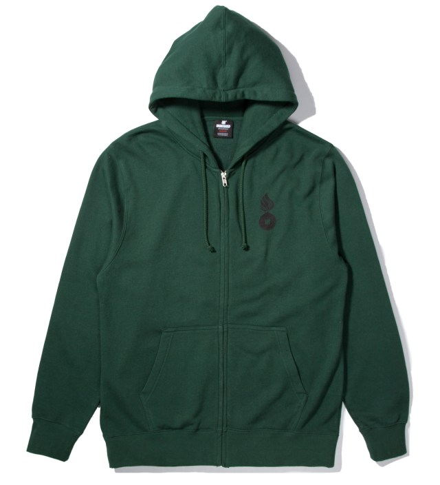Forest Green No. 1 Bullet Zip Hoodie