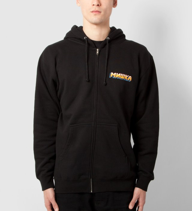 Black Choose Your Fighter Zip-Up Hoodie