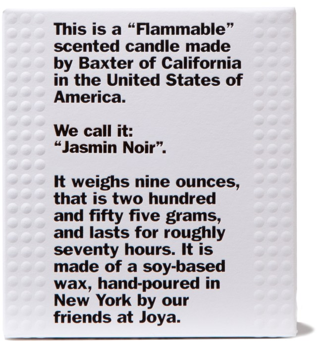 """FLAMMABLE"" Jasmin Noir Candle"
