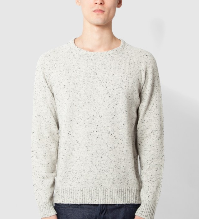 Winter White Marled Crewneck Sweater