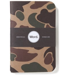 Word. Tan Camo 3 Pack Notebook Picture