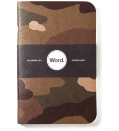 Word. Traditional Camo 3 Pack Notebook Picture