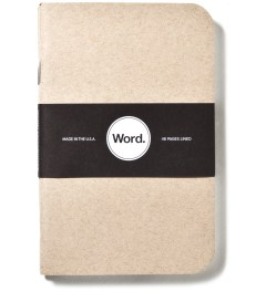 Word. Natural 3 Pack Notebook Picture